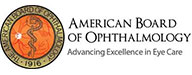 Badge American Board Of Ophthalmology Advancing Excellence in Eye Care